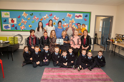 Parents and Children are pictured with Teachers at St Malachy's PS Carnagat at the completion of a 8 week Family Connection pogramme hosted in the school. R1850001