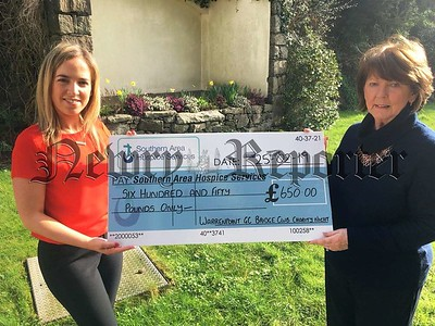 R1910368 Warrenpoint GC Bridge Club Charity Night cheque pres