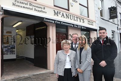 MCANULTY FAMILY WARRENPOINT COMMEMORATING 200 YEARS IN BUSINESS