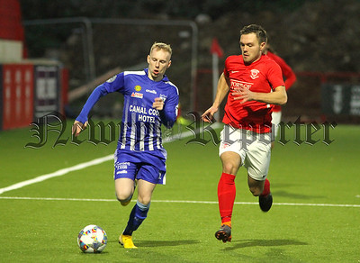 Conal Delaney set up the Newry goal with a strong run down the right flank.