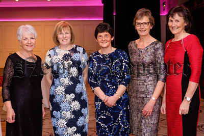Enjoying the County Armagh UFU Dinner in Newry were from left: Barbara Ferguson, Markethill; Sue McCloskey, Antrim; Valerie Bolton, Maghera; Elizabeth Hill, Armagh and Pauline Johnston, Loughgall. Photograph: Columba O'Hare/ Newry.ie