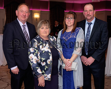 William Irwin, MLA and wife Olive with Roberta and Gordon Kennedy, Redrock at the County Armagh Ulster Farmers Union Dinner in Newry. Photograph: Columba O'Hare/ Newry.ie
