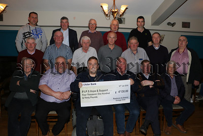 Cheque presented to PIPS Hope and Support from Rostrevor & District Vintage Club