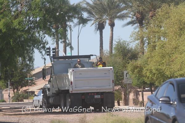 347 Speed Enforcement with dump truck 3-28-2017