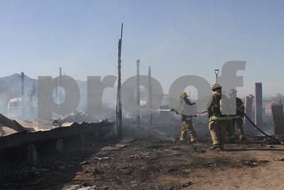 Mobile home fire Rio Bravo 6-28-12
