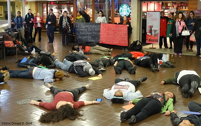 Die-in at Rutgers-Camden, day after Eric Garner grand jury failed to indict