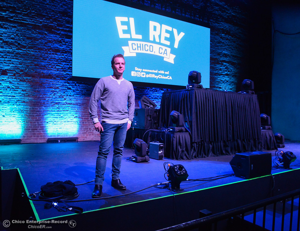 . Tyrone Galgano of San Luis Obispo, one of the three new owners of the El Rey Theater stands in the theater Thursday January 11, 2018 in Chico, California. (Emily Bertolino -- Enterprise-Record)