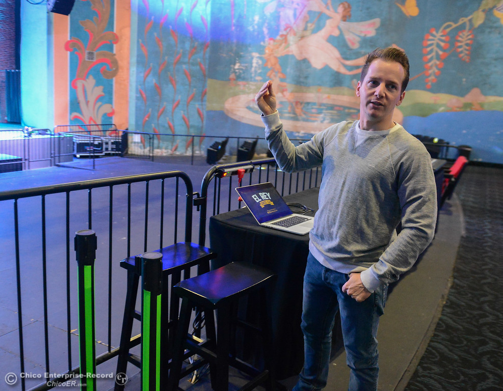 . Tyrone Galgano of San Luis Obispo, one of the three new owners of the El Rey Theater talks about the renovations that have been done Thursday January 11, 2018 in Chico, California. (Emily Bertolino -- Enterprise-Record)