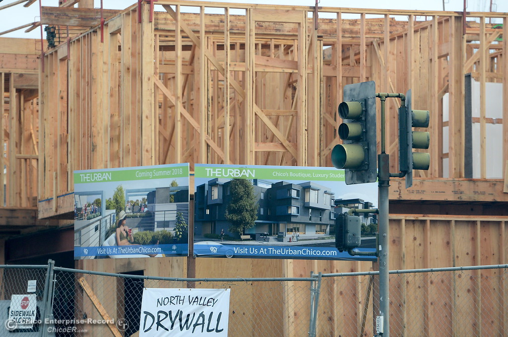 . Construction is under way on The Urban, a new student residential complex in Chico, Calif. Wed. Jan. 10, 2018.  (Bill Husa -- Enterprise-Record)