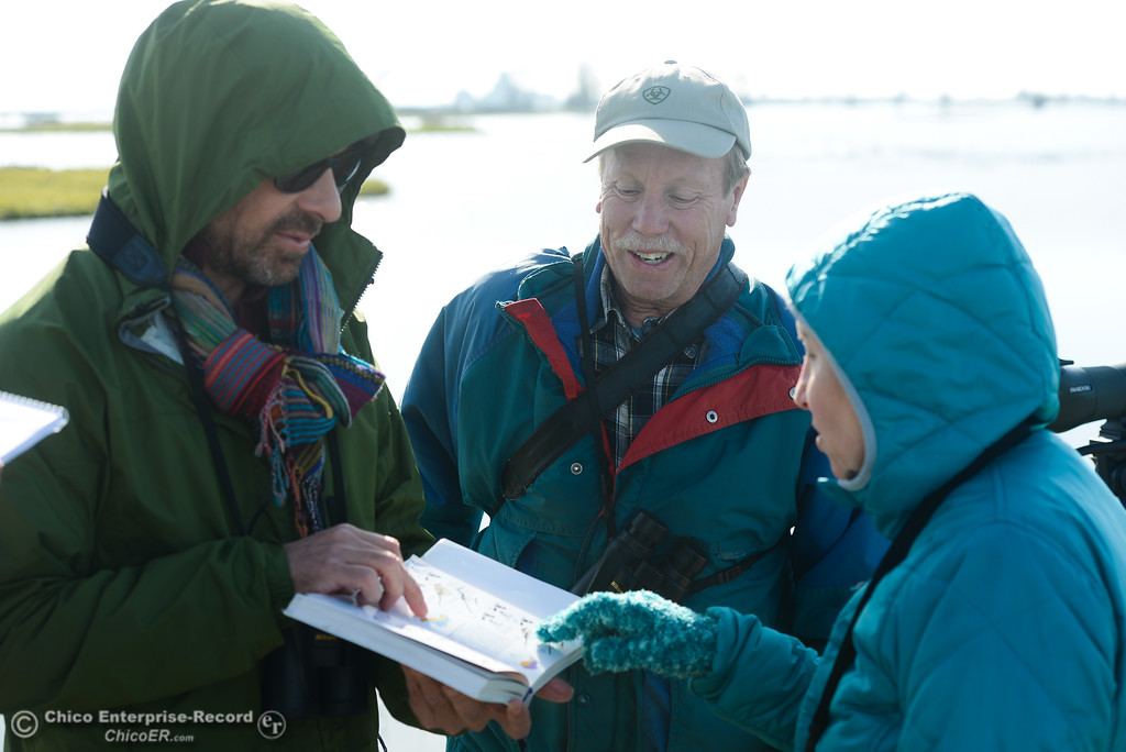 . Bernard Richter of Chico teaching from his bird-watching book during the Snow Goose Festival Saturday, January 27, 2018, in Chico, California. (Carin Dorghalli -- Enterprise-Record)