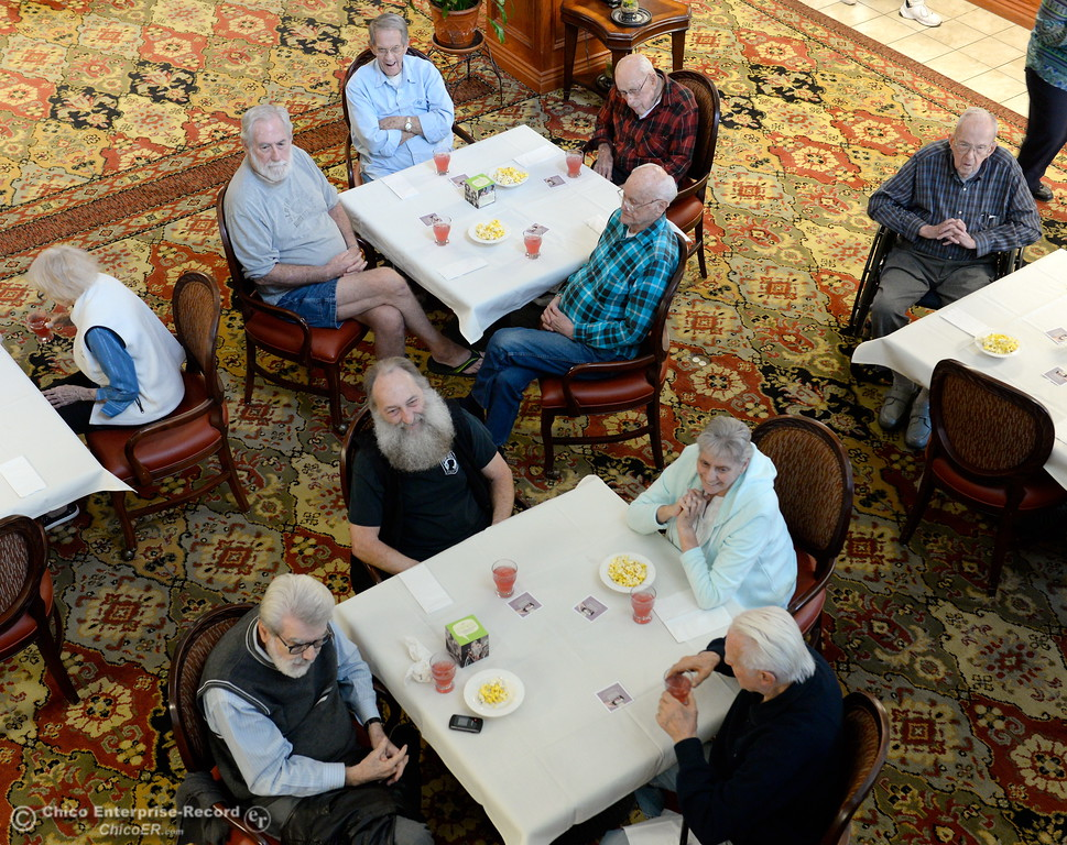 ". Residents at Atria of Paradise listen to guest speakers during their Story Wise ""Better Together\"" event Monday Jan. 22, 2018. (Bill Husa -- Enterprise-Record)"