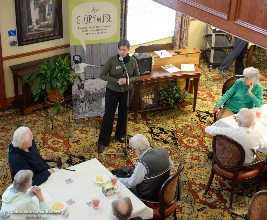". Residents at Atria of Paradise listen to guest speaker Evie Cameron talks during their Story Wise ""Better Together\"" event Monday Jan. 22, 2018. (Bill Husa -- Enterprise-Record)"
