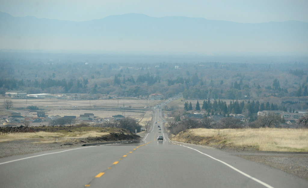 . Hazy skies are seen over Chico, Calif. from Hwy. 32 Tuesday Jan. 2, 2018. (Bill Husa -- Enterprise-Record)