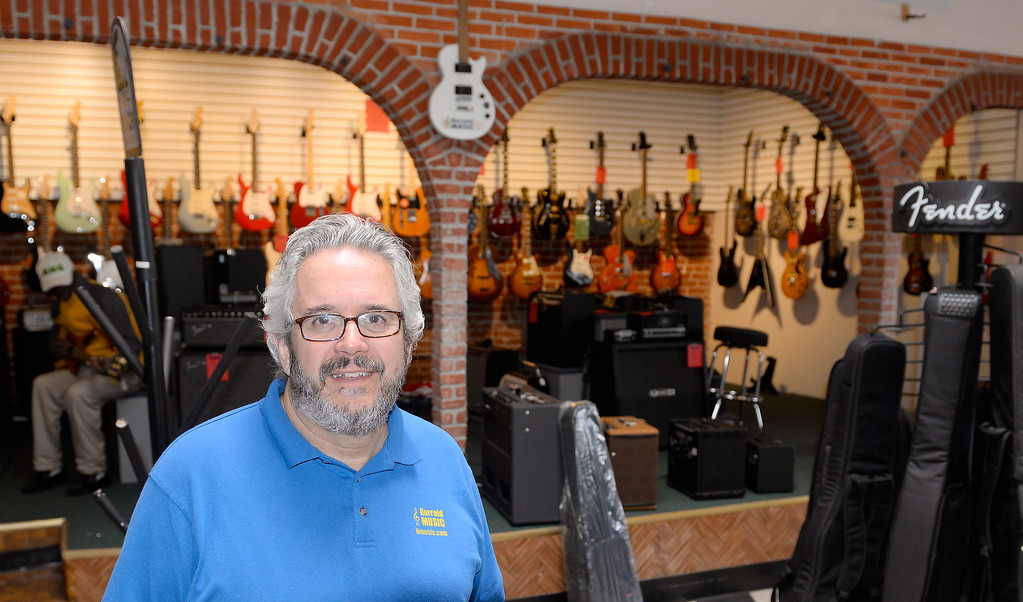 . Rich Pires, Owner of Herreid Music smiles at the store in Chico, Calif. Thurs. Jan. 4, 2018. The store will be closing on Saturday.  (Bill Husa -- Enterprise-Record)