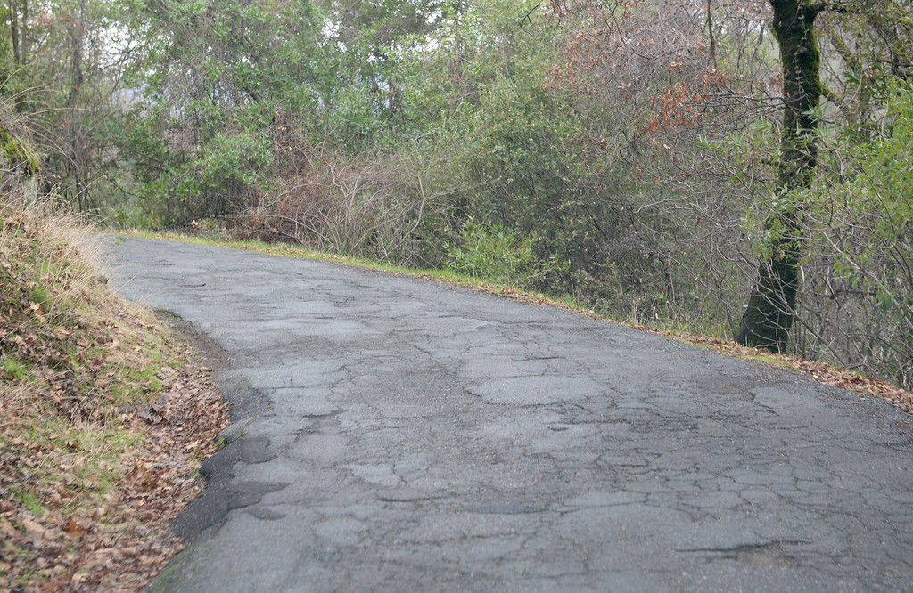. Honey Run Road could use resurfacing according to a list of roads needing repair in the Paradise, Calif. area Thurs. Jan. 4, 2018.  (Bill Husa -- Enterprise-Record)