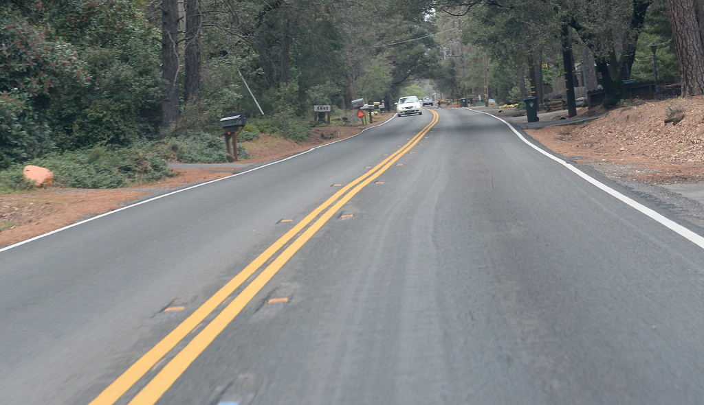 . Pentz Road is on the list of roads needing repair in the Paradise, Calif. area Thurs. Jan. 4, 2018. Residents voted to widen Pentz to add safe shoulders for bike travel.  (Bill Husa -- Enterprise-Record)