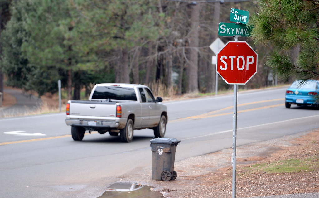 . The intersection of Old Skyway, Pentz Road and Skyway could use a stoplight according to a list of roads needing repair in the Paradise, Calif. area Thurs. Jan. 4, 2018.  (Bill Husa -- Enterprise-Record)