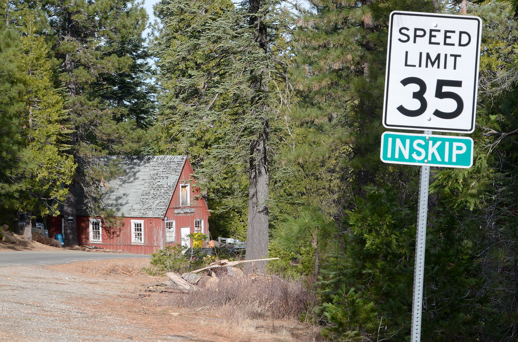 . Inskip is accessible by an average car without 4 wheel drive today due to a lack of snow Tuesday Jan. 2, 2018. (Bill Husa -- Enterprise-Record)