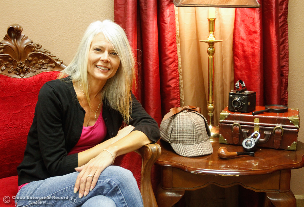 . Nicki Evenson offers options for entertainment for youths and adults at Chico Escape Rooms Tuesday October 3, 2017 in Chico, California. (Emily Bertolino -- Enterprise-Record)