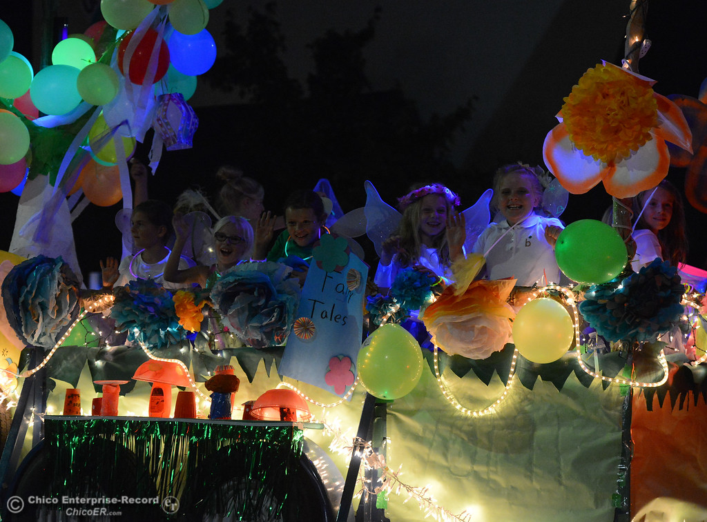 . People line the streets for the 28th annual Chico Parade of Lights Saturday October 7, 2017 in Chico, California. (Emily Bertolino -- Enterprise-Record)