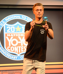 Gentry Stein of Chico practices before the 1A final event during the 2017 National Yo-Yo Contest October 7, 2017 at the Chico Center for the Arts in Chico, California. (Emily Bertolino -- Enterprise-Record)
