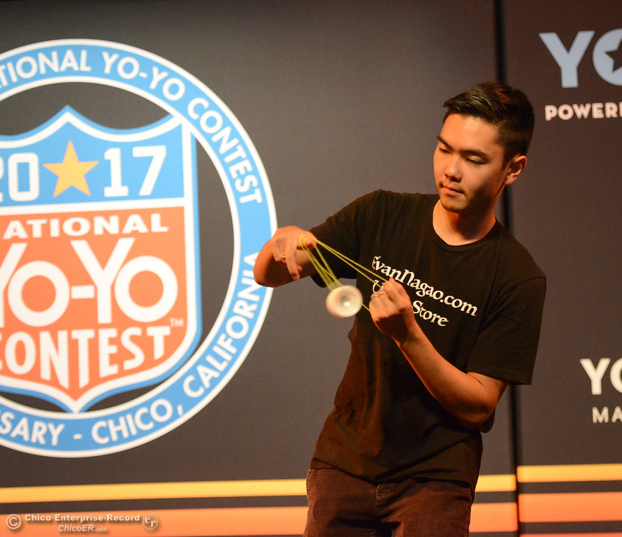 . Evan Nagao from Honolulu, Hawaii prepares for the 1A final event at the 2017 National Yo-Yo Contest October 7, 2017 at the Chico Center for the Arts in Chico, California. (Emily Bertolino -- Enterprise-Record)