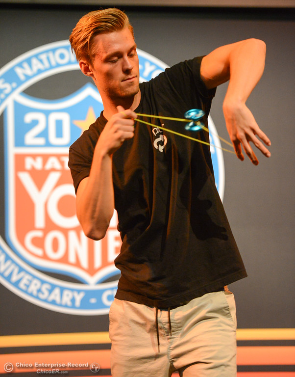 . Gentry Stein of Chico practices before the 1A final event during the 2017 National Yo-Yo Contest October 7, 2017 at the Chico Center for the Arts in Chico, California. (Emily Bertolino -- Enterprise-Record)