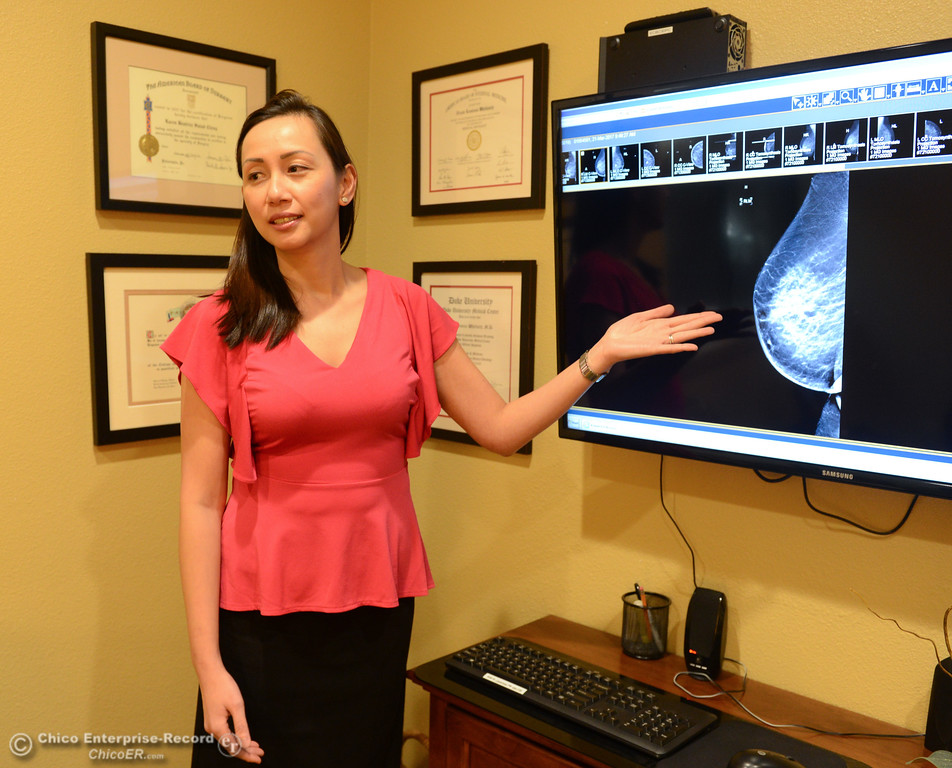 . Dr. Karen Ching-Tismal talks about a mammogram, Ching will be doing a program for OLLI next month Thursday October 5, 2017 at the Chico Breast Care Center in Chico, California. (Emily Bertolino -- Enterprise-Record)