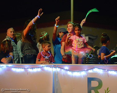 People line the streets for the 28th annual Chico Parade of Lights Saturday October 7, 2017 in Chico, California. (Emily Bertolino -- Enterprise-Record)