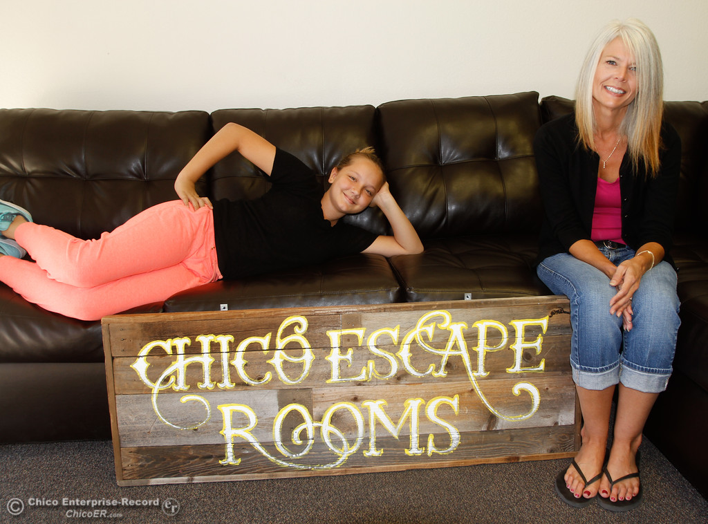 . Owner and operators Halle and Nicki Evenson at their new business Chico Escape Rooms Tuesday October 3, 2017 in Chico, California. (Emily Bertolino -- Enterprise-Record)
