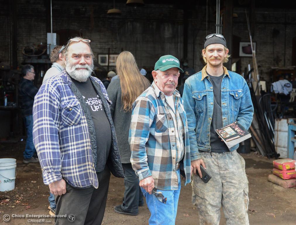 . Members of the Chico Blacksmith association meet November 11, 2017 at Richer\'s Earthen Iron in Chico, California. (Emily Bertolino -- Mercury Register)