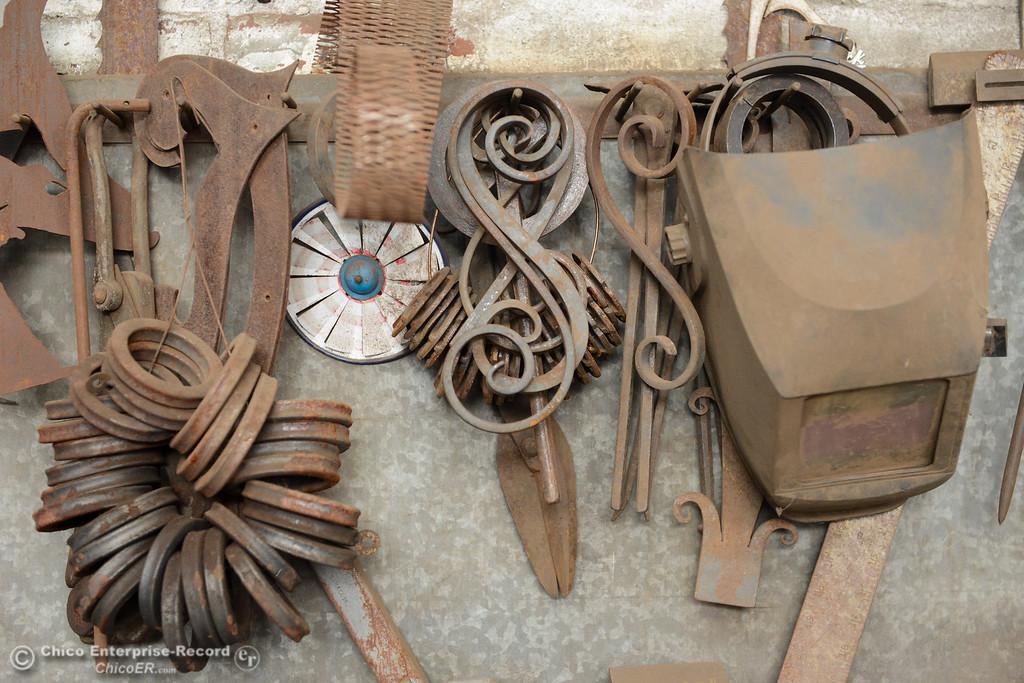 . Metal work and blacksmithing tools November 11, 2017 at Richer\'s Earthen Iron in Chico, California. (Emily Bertolino -- Mercury Register)