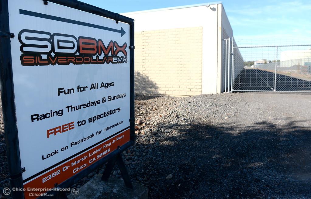 . The Silver Dollar BMX track entrance in Chico, Calif. Tues. Nov. 7, 2017.  (Bill Husa -- Enterprise-Record)