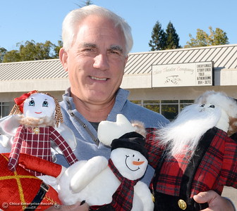 Woof & Poof CEO Roger Hart holds new Woof & Poof toys at the Chico Theater Company in Chico, Calif. Wed. Nov. 16, 2016. Chico Theater Company will host a show next month featuring Woof & Poof items. (Bill Husa -- Enterprise-Record)