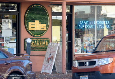 Chico was named one of the best towns for holiday shopping. Storefronts like this are already underway for the holiday shopping season Monday Nov. 14, 2016. (Bill Husa -- Enterprise-Record)