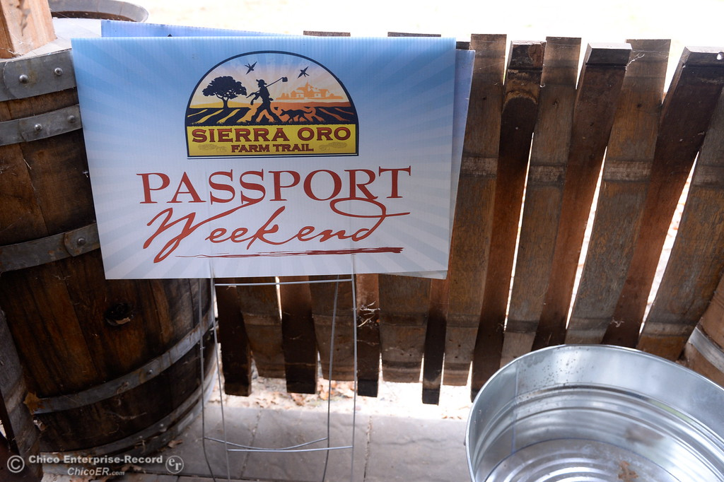 . A Passport Weekend sign is seen at Gale Vinyards in Durham, Calif. Fri. Nov. 3, 2017. (Bill Husa -- Enterprise-Record)