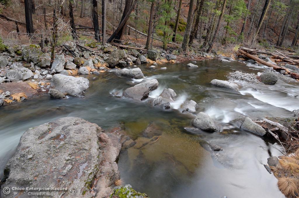. Deer Creek flows below Highway 32 above Chico, Calif.  Saturday Nov. 25, 2017.  (Bill Husa -- Enterprise-Record)
