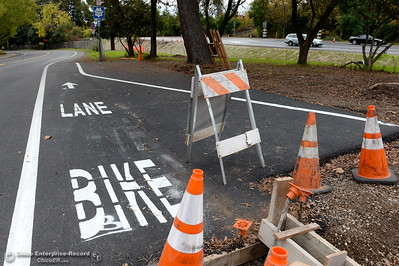 Construction continues along the Hwy. 99 bike path seen here along Fir Street near Hwy. 32 in Chico, Calif. Wed. Nov. 30, 2016. (Bill Husa -- Enterprise-Record)