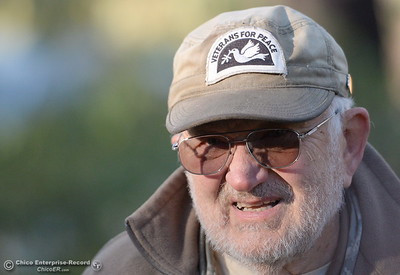 Veteran for peace, Richard Gilchrist of Chico talks about his first trip to the pipeline protest as prepares to head back to North Dakota from Chico, Calif. in support of the Standing Rock Sioux in a battle to protect their water from an oil pipeline company project Thurs. Dec. 1, 2016. (Bill Husa -- Enterprise-Record)