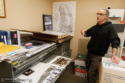 Paul Lieberum, interim president of Chico Heritage Association talks Monday as the Association prepares to move out of its office space because the city decided not to renew their lease November 28, 2016 in Chico, California. (Emily Bertolino -- Enterprise-Record)