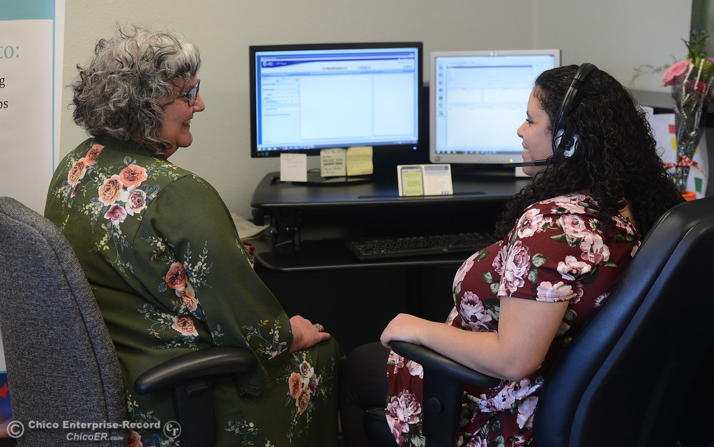 . Butte 2-1-1 staff and director Tara Sullivan-Hames talks about the emergency information center, Thursday, February 15, 2018, in Chico, California. (Carin Dorghalli -- Enterprise-Record)