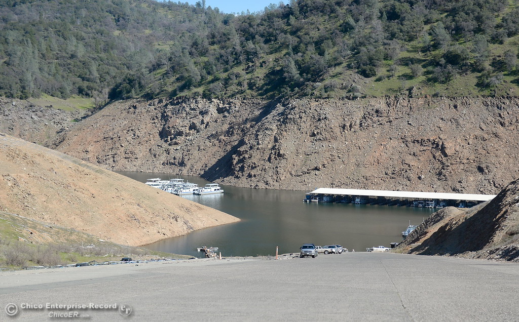 . The ramp is long but open at the Lime Saddle Marina boat launching facility on Lake Oroville in Paradise, Calif. Friday Feb. 16, 2018. (Bill Husa -- Enterprise-Record)