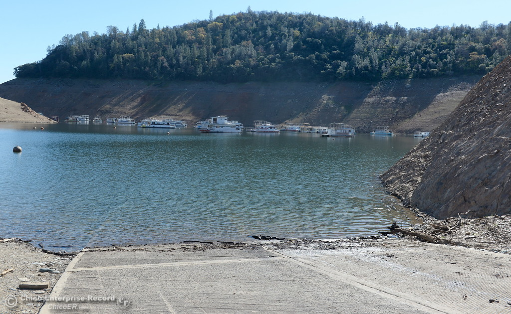 . The Lime Saddle Marina boat launching facility is open for business on Lake Oroville in Paradise, Calif. Friday Feb. 16, 2018. (Bill Husa -- Enterprise-Record)