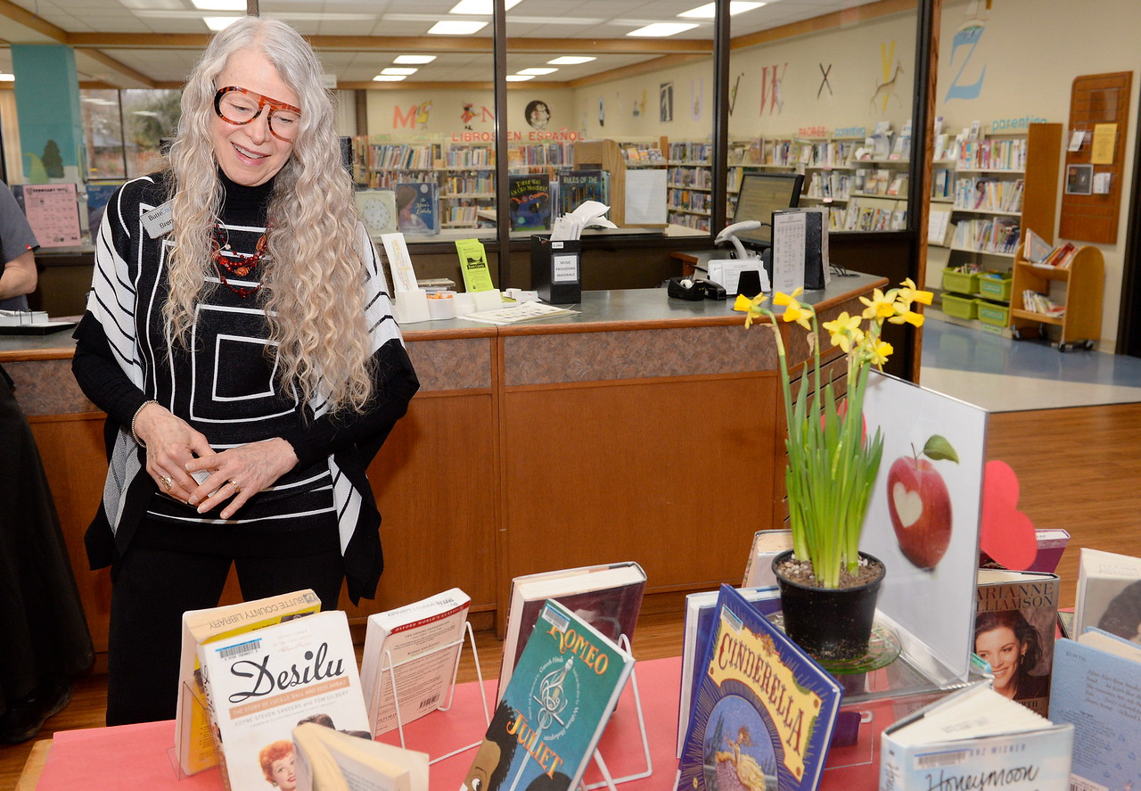 Branch Librarian Brenda Crotts smiles as she talks about some of the new features implemented at the Chico Library Thurs. Feb. 2, 2017. (Bill Husa -- Enterprise-Record)