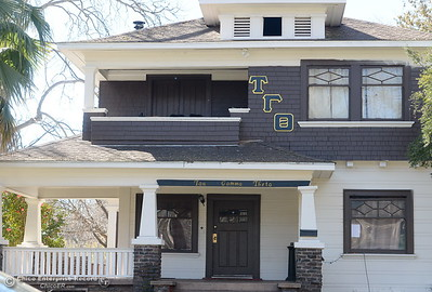 The Tau Gamma Theta fraternity house located at 980 Chestnut St. in Chico, Calif. was allegedly reported to have a shooting two weeks ago. Seen here Monday March 5, 2018. (Bill Husa -- Enterprise-Record)