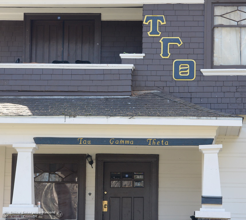 . The Tau Gamma Theta fraternity house located at 980 Chestnut St. in Chico, Calif. was allegedly reported to have a shooting two weeks ago. Seen here Monday March 5, 2018. (Bill Husa -- Enterprise-Record)