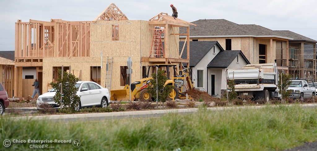 . Construction is seen underway in a residential area near Wildwood Park in Chico, Calif. Friday March 9, 2018. (Bill Husa -- Enterprise-Record)