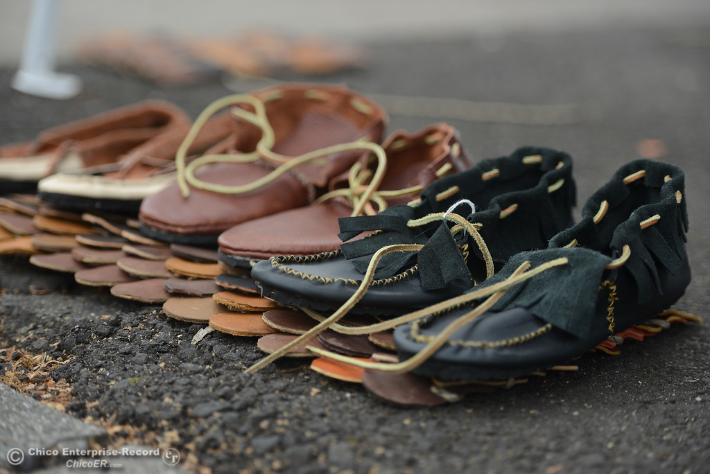 . Moccasins made by Ean Greer, Saturday, March 10, 2018, in Chico, California. (Carin Dorghalli -- Enterprise-Record)