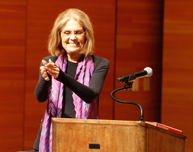 Gloria Steinem at a Q&A between Ms. Steinem and CSU, Chico students from the Capstone Seminar Classes, Multicultural and Gender Studies program and the Gender and Sexuality Equity Center Wednesday March 1, 2017 at Zingg Recital Hall in Chico, California. (Emily Bertolino -- Enterprise-Record)