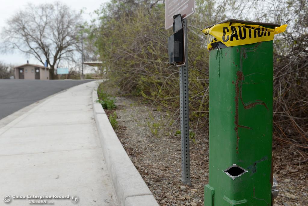 . Parking and launching is free Friday due to vandalism to the pay box near the Pine Creek boat ramp in Chico, Calif. Friday March 9, 2018. (Bill Husa -- Enterprise-Record)